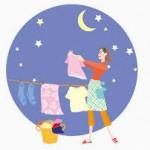 洗濯物を夜に洗う?夜にするなら注意しないといけない事