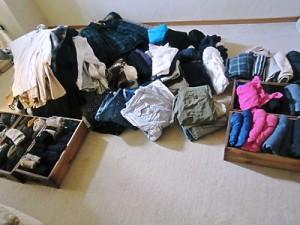 衣類の整理整頓