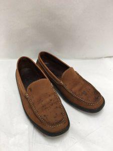 【修復例紹介】革靴のシミ。。。クリーニングで改善できますよ!
