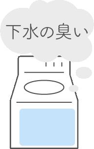 洗濯機のくさい原因と解決方法(4)下水の臭い