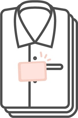 衣類の上に置く
