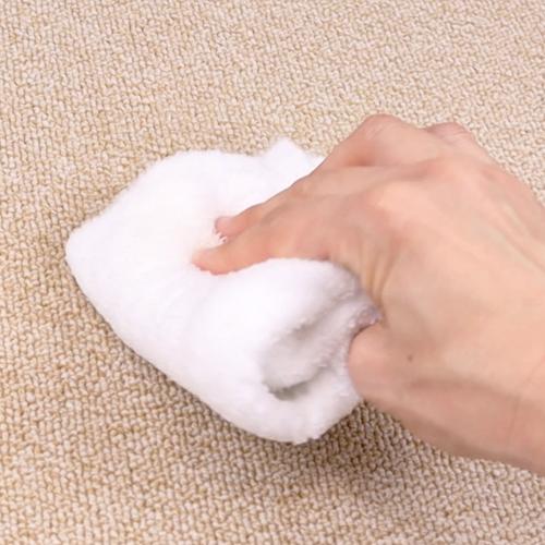 濡れタオルの面を替えながら、2と3を繰り返します。