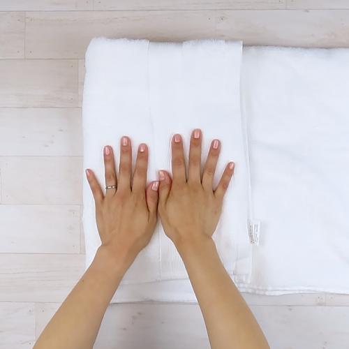 タオルで水気をとる。