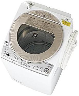 シャープ タテ型洗濯乾燥機 8kgタイプ ゴールド系 ESTX8B-N