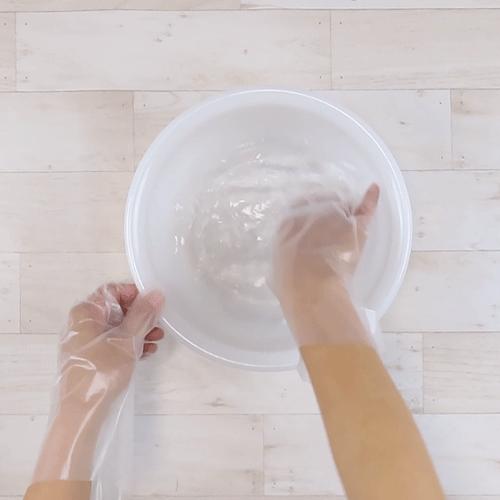 洗浄液を作ります。