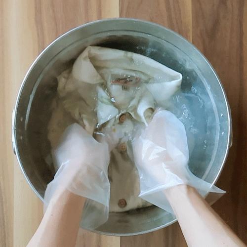 アロハシャツを洗います。