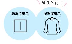 吊干しの洗濯表示