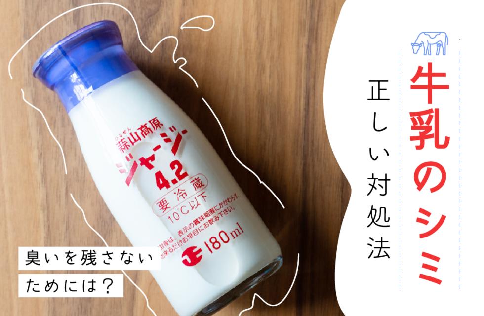 牛乳のシミができたときの正しい対処法!臭いを残さないためには?