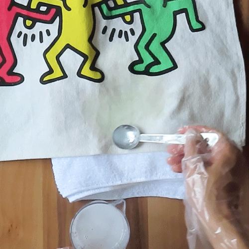 魔法水を塗ります。