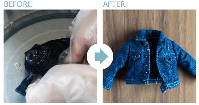 人形のお洋服を洗濯する方法