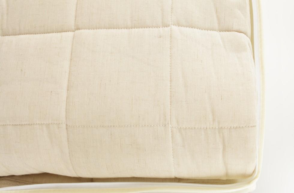 布団のたたみ方は、縦横に三つ折り